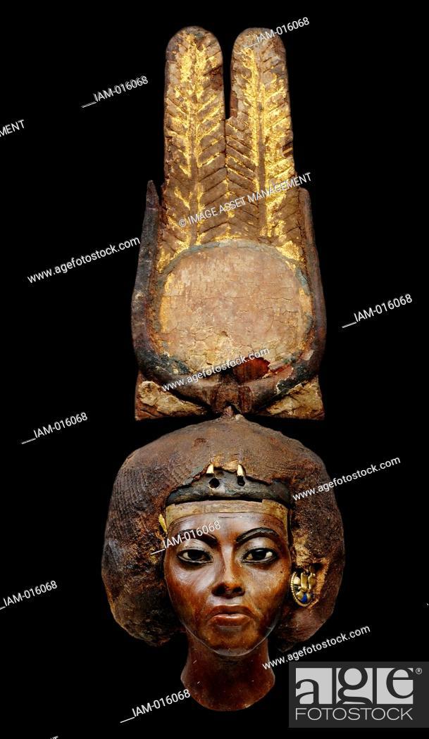 Stock Photo: Queen Tiye, Egyptian, Medinet el Ghurob, New Kingdom, Dynasty 18, reign of Amenhotep III, ca. 1355 BC.