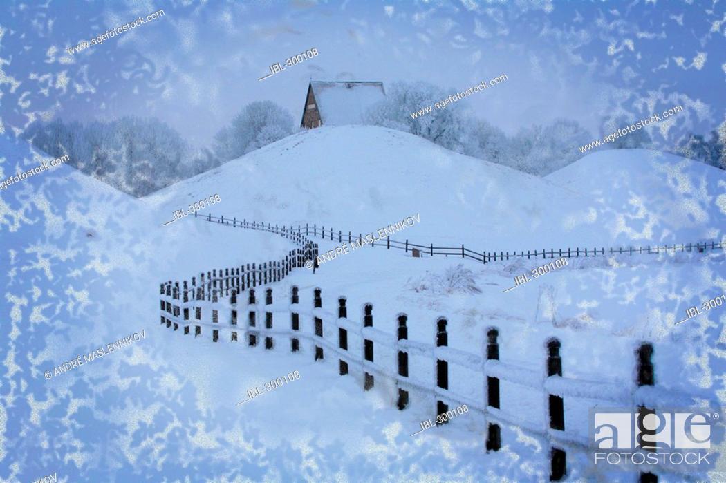 Stock Photo: Church in snow.