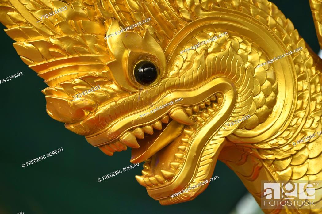 Imagen: Naga snake detail in Phnom Penh, Cambodia, South east Asia.
