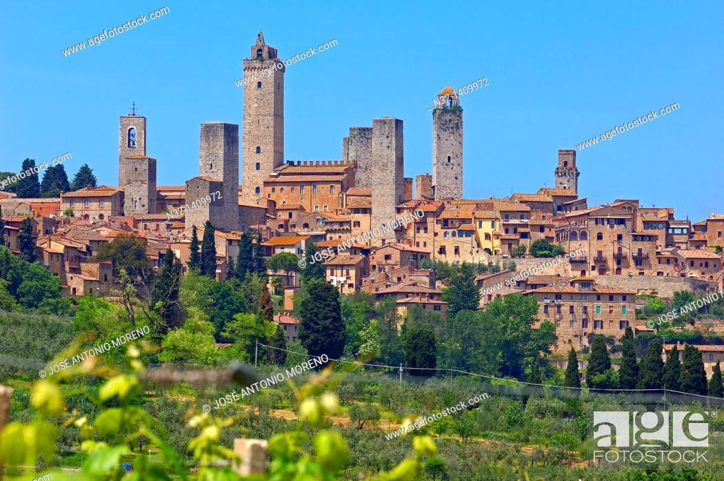 Photo de stock: San Gimignano, Tuscany, Italy, Siena Province, UNESCO World Heritage Site.