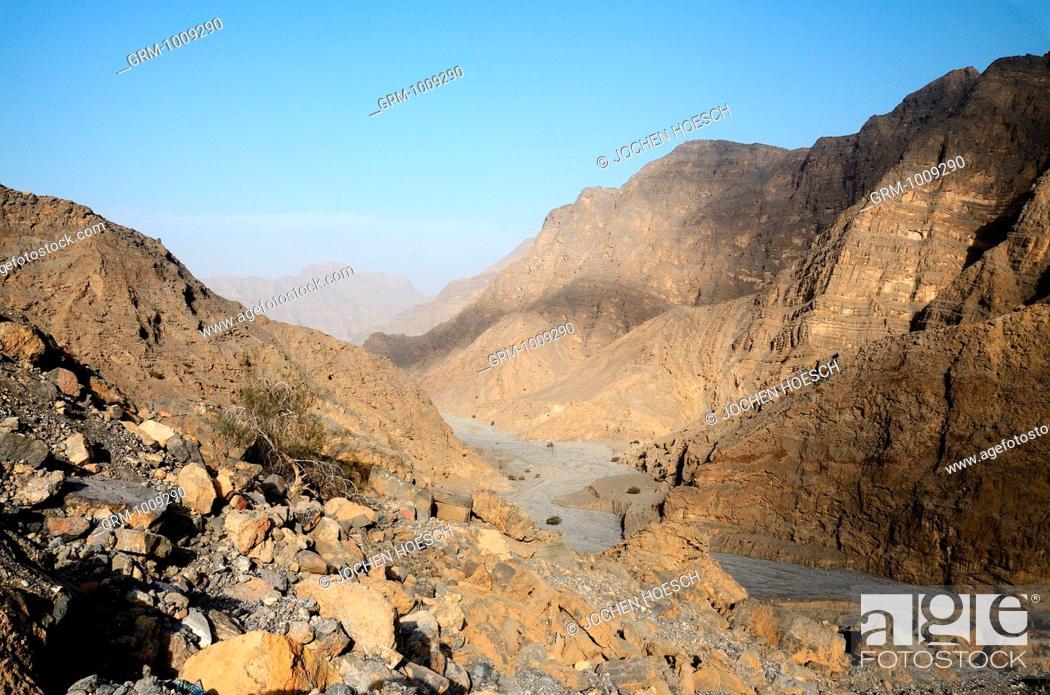 Stock Photo: Hajar Mountains on Musandam peninsula, Oman.
