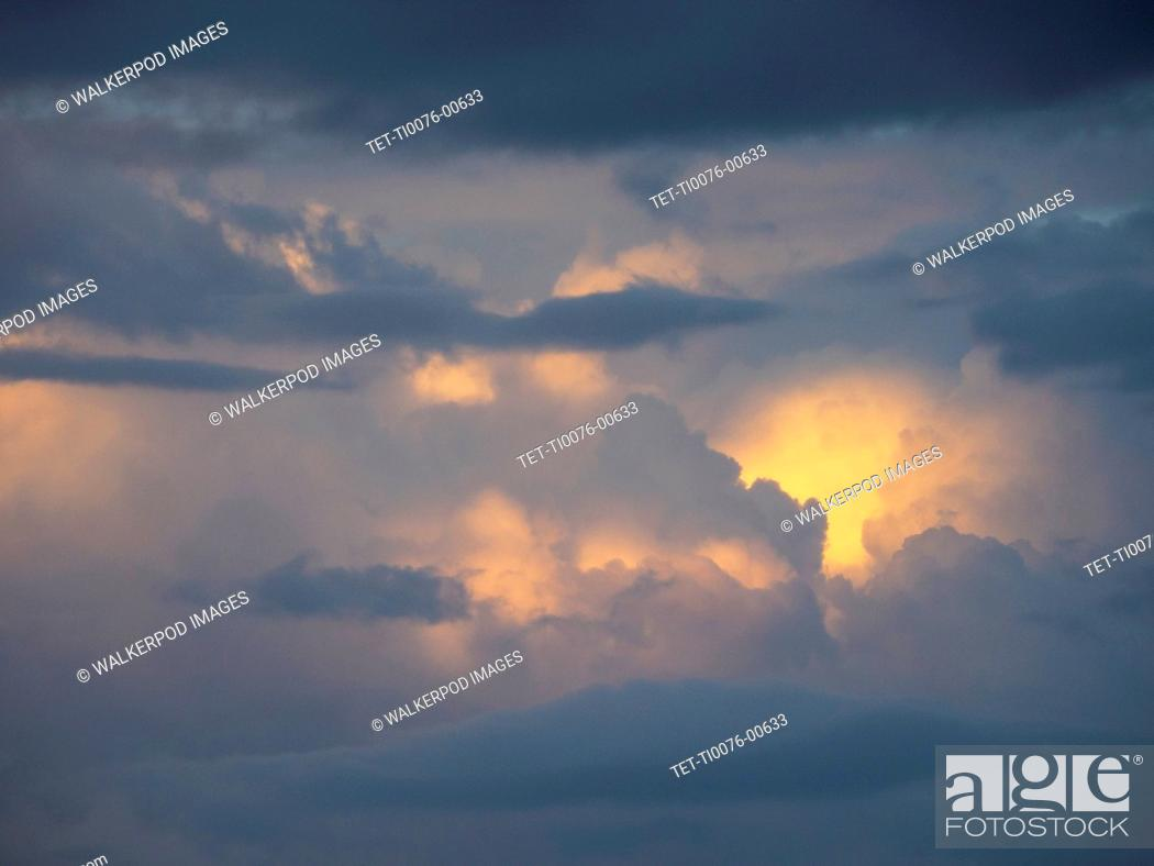 Stock Photo: Cloudscape at sunset.