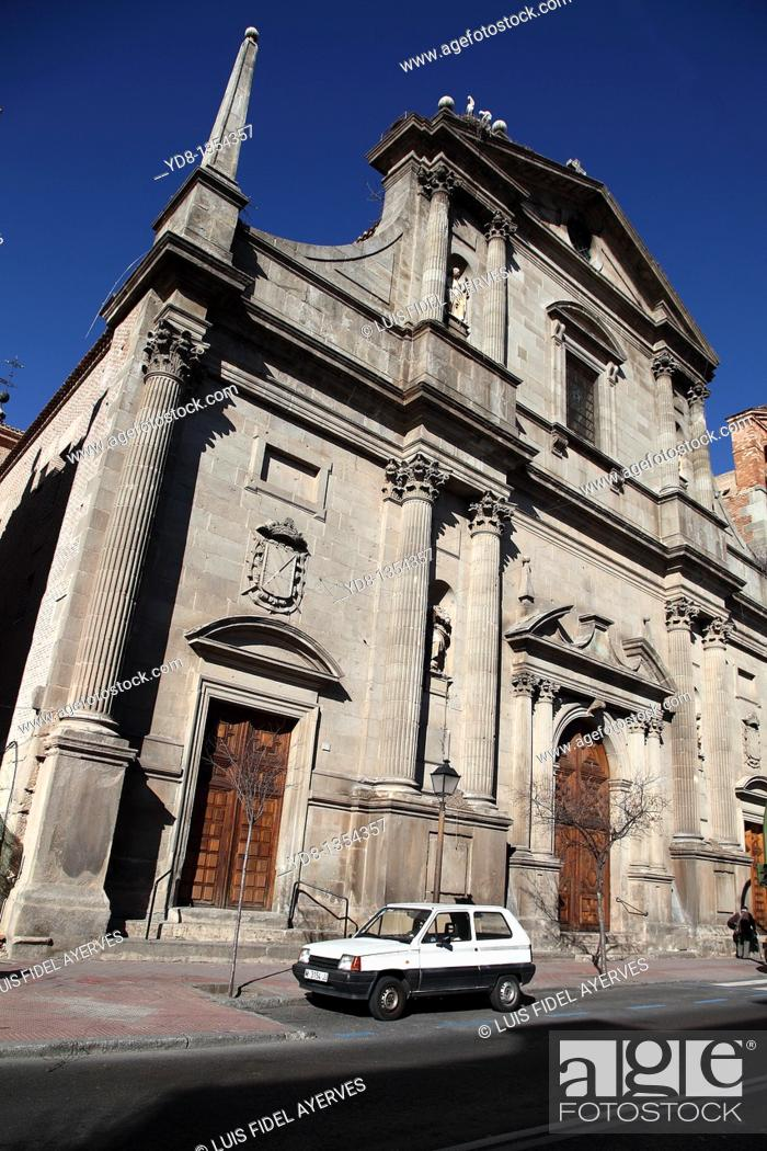 Stock Photo: Church, Alcala de Henares, Madrid, Spain.