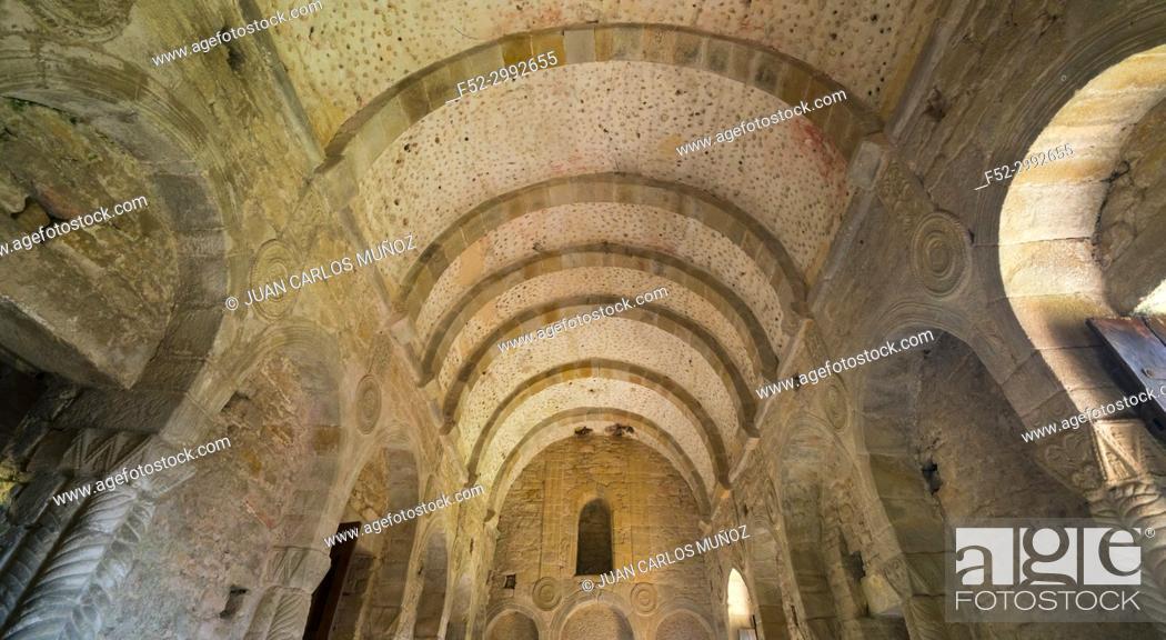 Stock Photo: The church of St Mary at Mount Naranco, Oviedo, Asturias, Spain, Europe.
