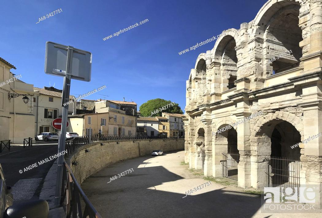 Stock Photo: The amphitheater in Arles, Arles, France. . Photo: André Maslennikov.