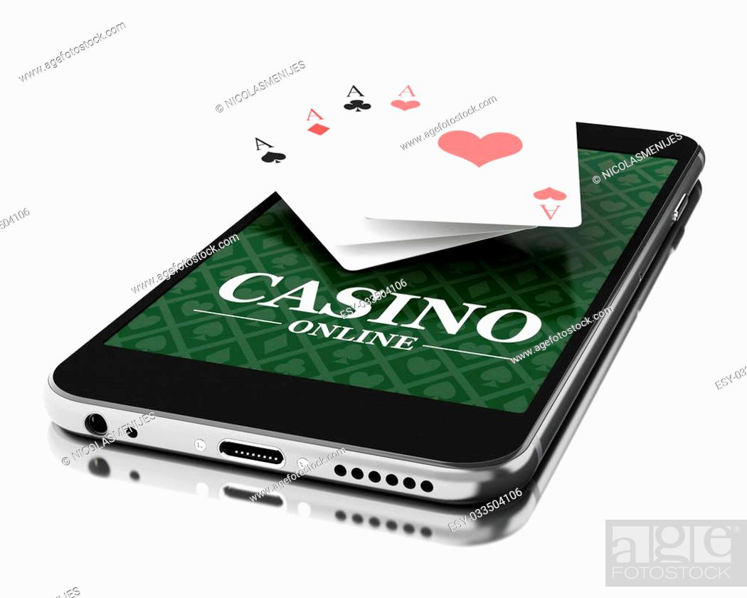 3d Illustration Smartphone With Poker Cards Online Casino Concept Stock Photo Picture And Low Budget Royalty Free Image Pic Esy 033504106 Agefotostock