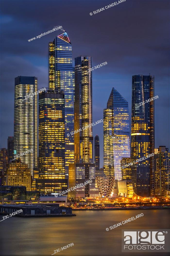 Stock Photo: Welcome to NYC Hudson Yards.