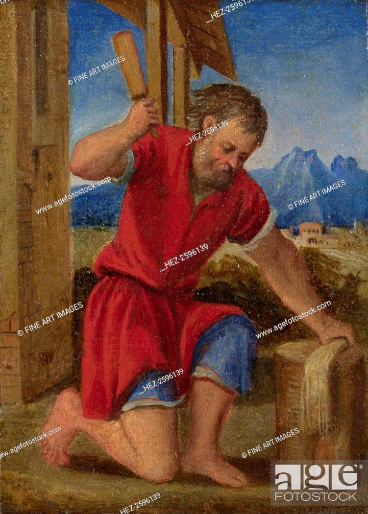 Stock Photo: The Labours of the Months: July, c. 1580. Found in the collection of the National Gallery, London.