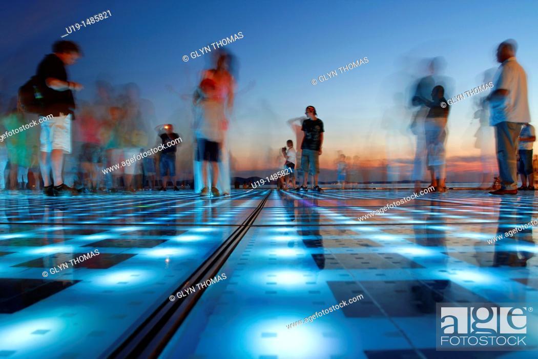 Stock Photo: Greeting to the Sun, Zadar, Croatia.
