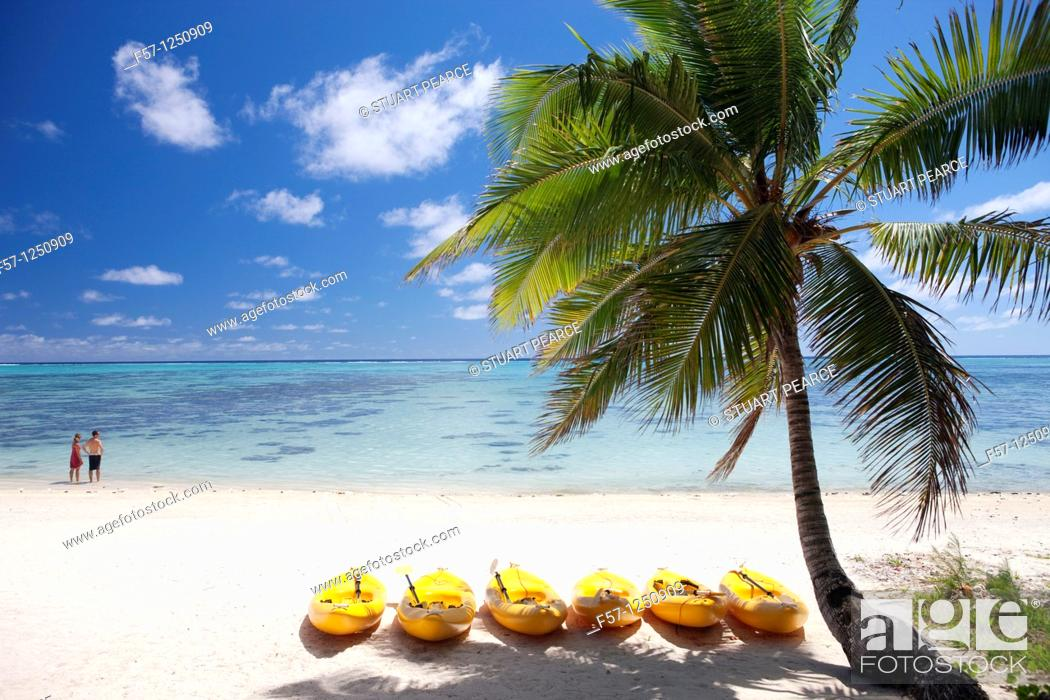 Stock Photo: Aitutaki in The Cook Islands.