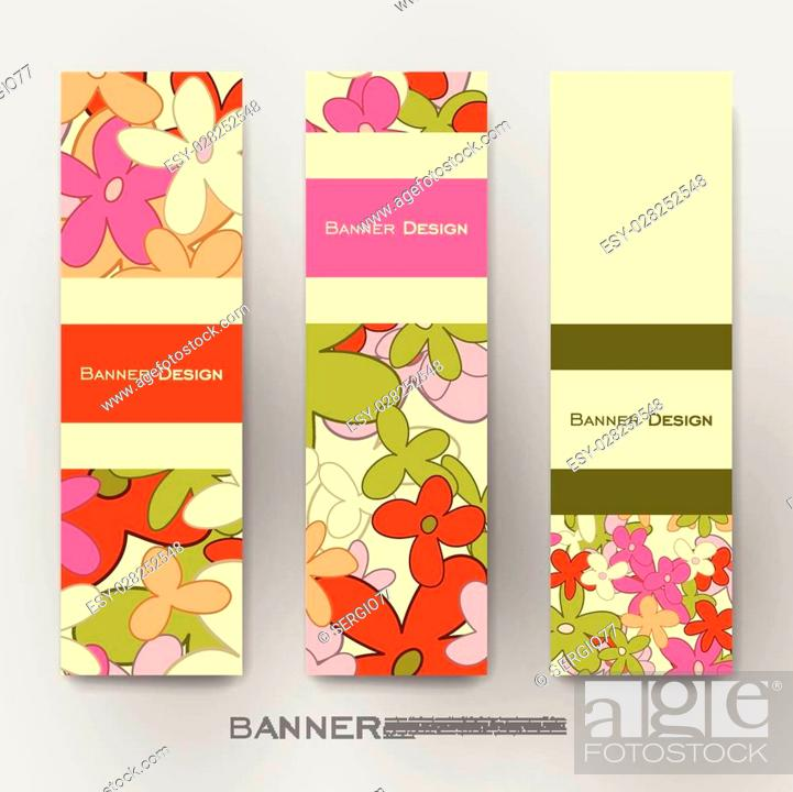 Beautiful Banner Vector Template With Floral Abstract Background Stock Vector Vector And Low Budget Royalty Free Image Pic Esy 028252548 Agefotostock