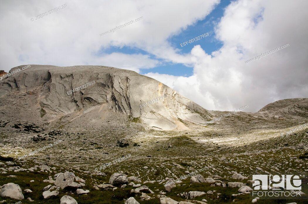 Stock Photo: Croda del Beco Southside, Dolomites, Italy, Alta Via Dolomiti.