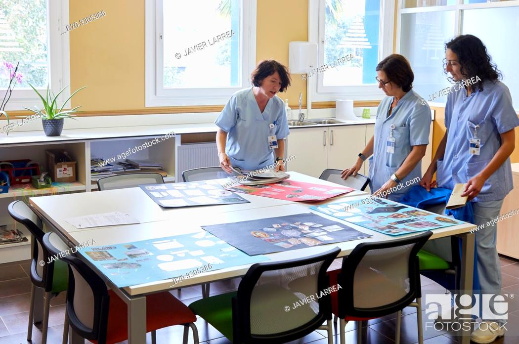 Stock Photo: Classroom of feeding, Psychiatry, Hospital Donostia, San Sebastian, Gipuzkoa, Basque Country, Spain.