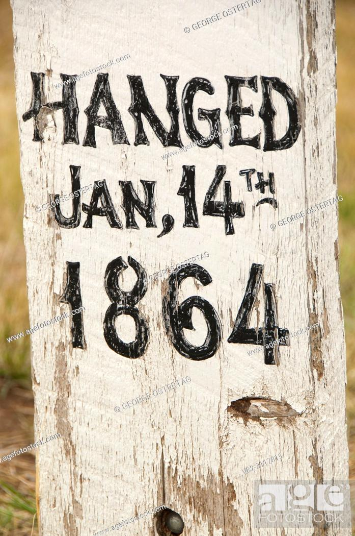 Stock Photo: Grave at Boot Hill Cemetery, Virginia City National Historic Landmark District, Montana.