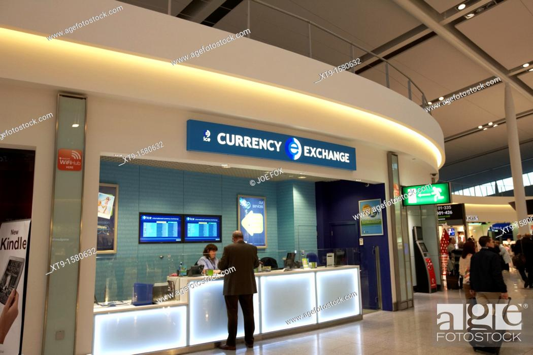Stock Photo Currency Exchange Desk In The Departures Area Of Terminal 2 Dublin International Airport Republic Ireland