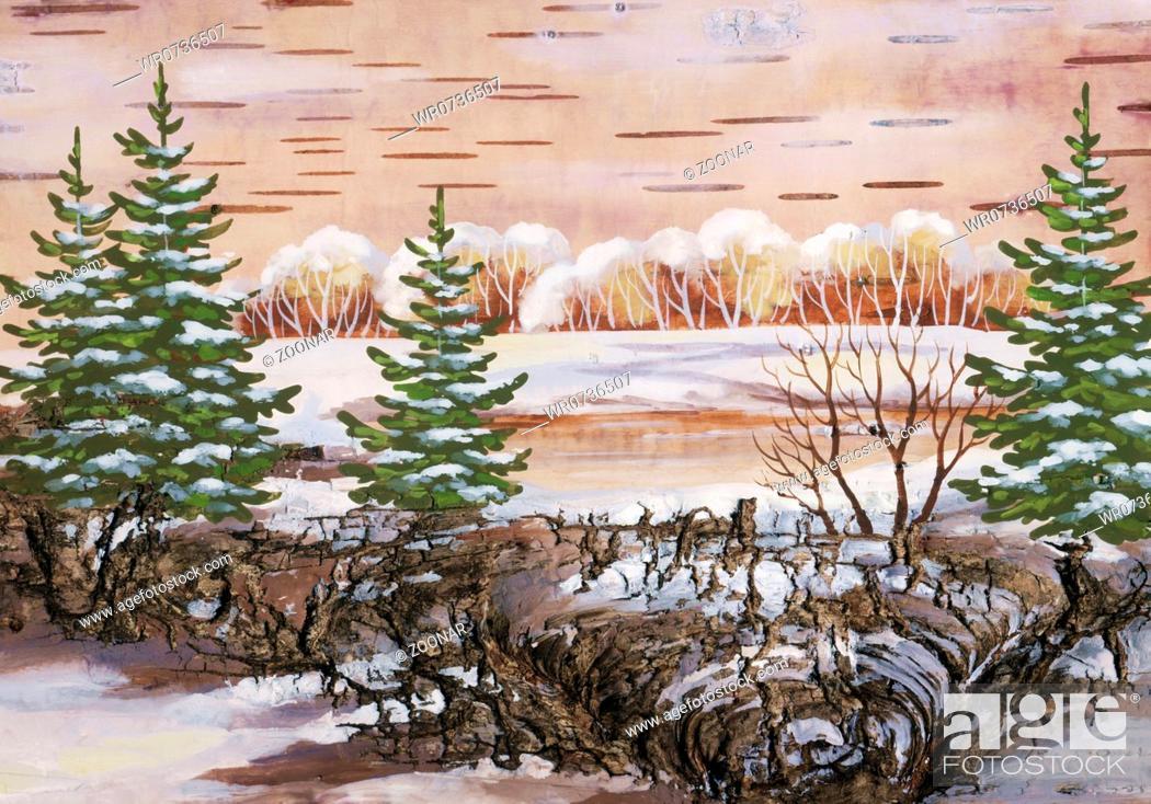 Imagen: Winter landscape.