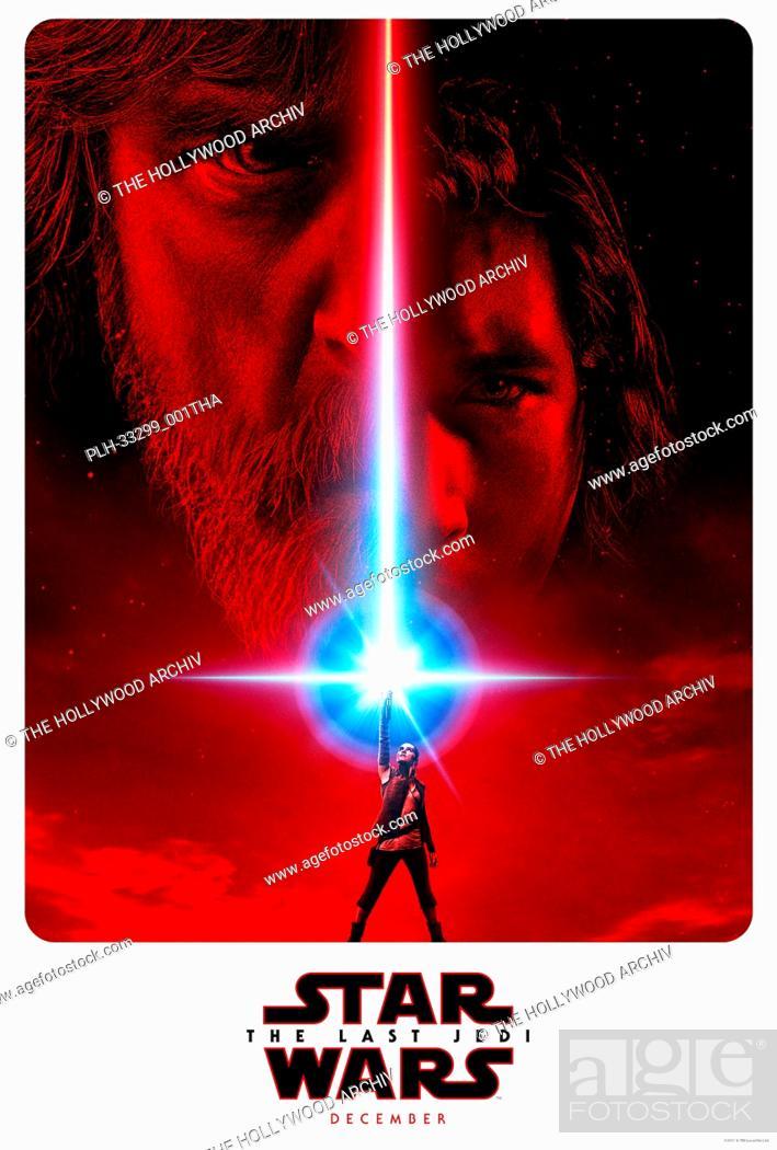 "Photo de stock: """"""Star Wars: The Last Jedi"""" (2017) Lucasfilm Ltd. Poster."