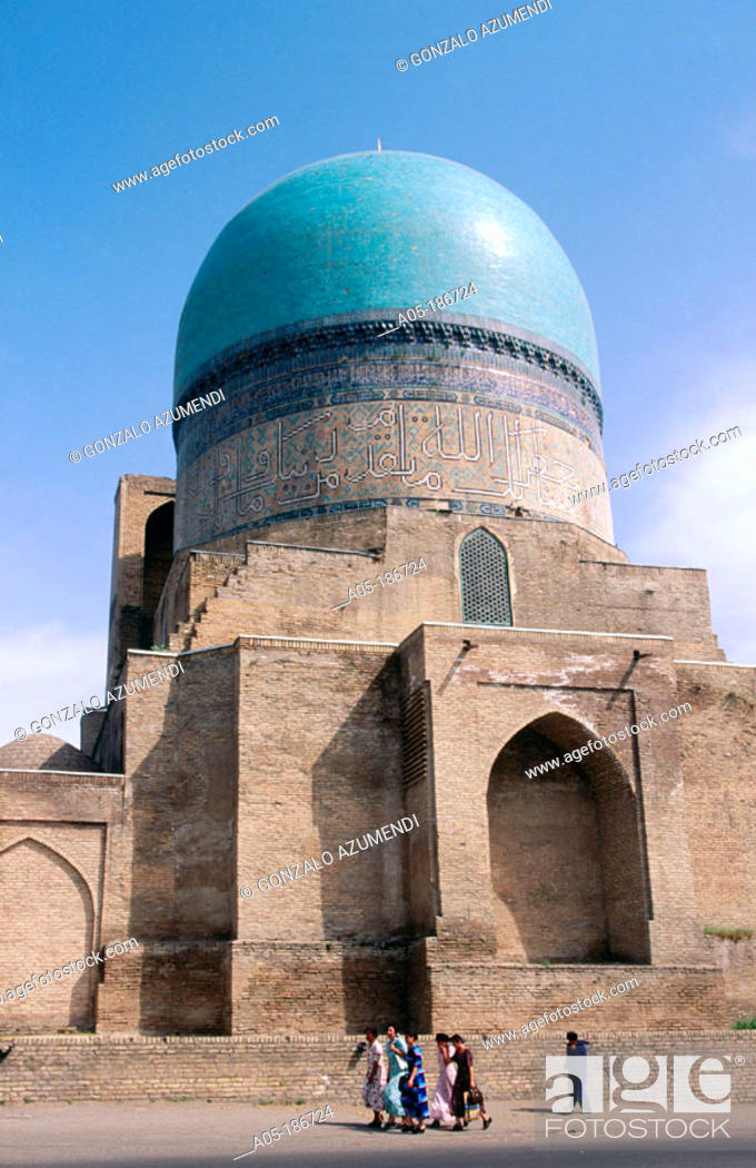 Stock Photo: Kok-Gumbaz mosque. Shakrisabz. Uzbekistan.