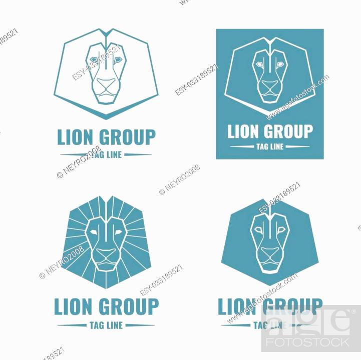 Lion Modern Vector Logos In Linear Outline Style Lion Logo Sign Lion Emblem Animal Lion Stock Vector Vector And Low Budget Royalty Free Image Pic Esy 033189521 Agefotostock Discover and download free lion outline png images on pngitem. 2