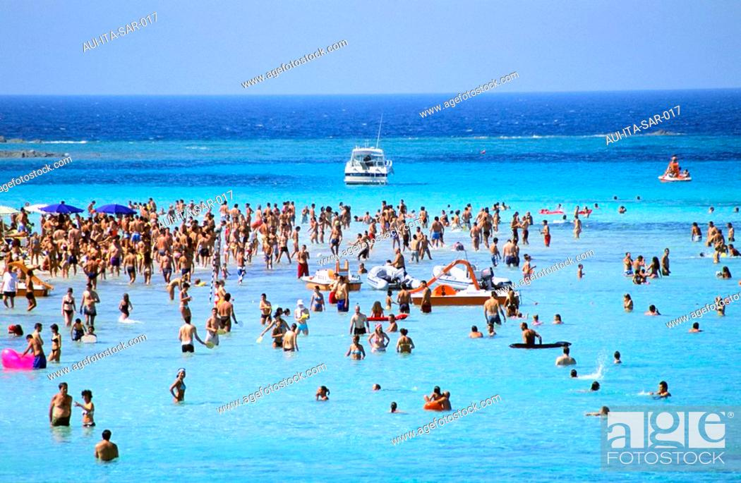 Stock Photo: Italy - Sardinia - West Coast Region - Stintino - La Pelosa.