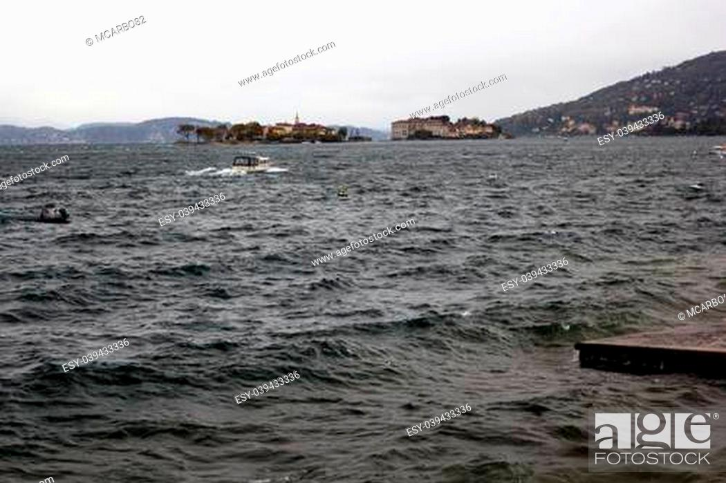 Stock Photo: troubled waters - Lake Maggiore, Italy.