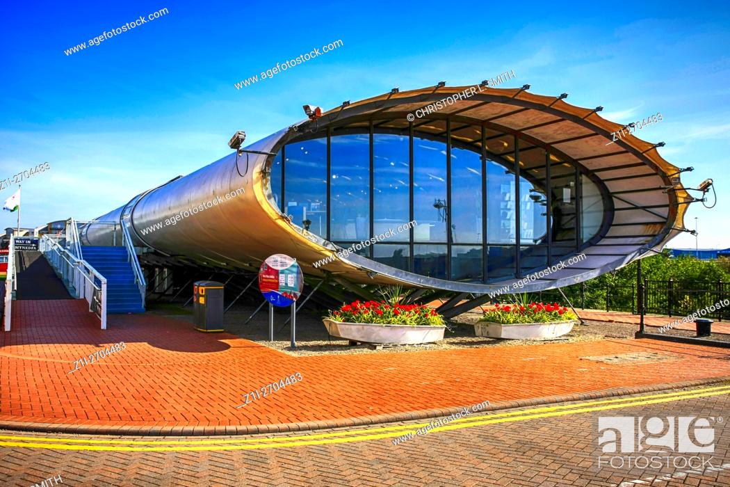 """Stock Photo: Cardiff Bay Visitor Centre """"""""The Tube"""""""" Wales."""