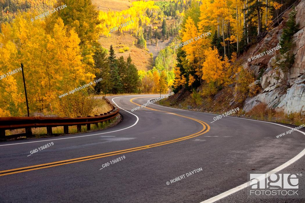 Stock Photo: Fall colors in the San Juan Mountains of Colorado.