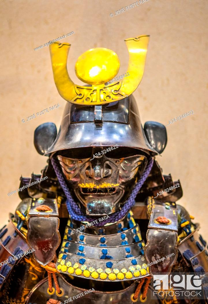 Imagen: Japan, Tokyo City, Yurakucho area, The Forum Bldg. , samurai attire.