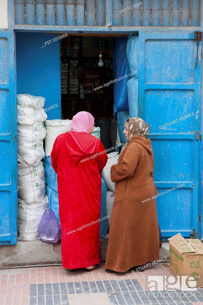 Stock Photo: Women, Essaouira, Morocco.