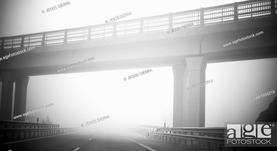 Stock Photo: Bridge in N II, Spain.