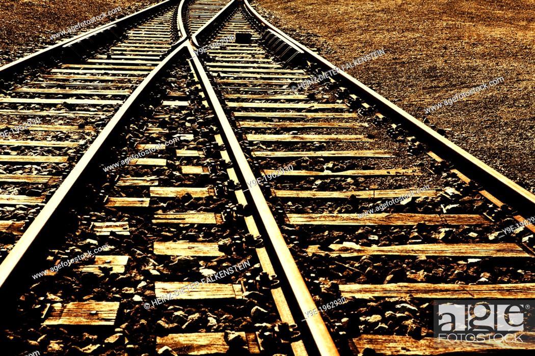 Stock Photo: Old Railway tracks.