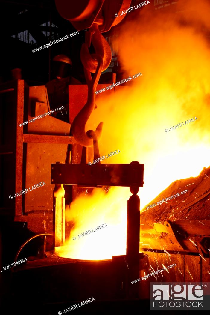 Stock Photo: Steel foundry, metalworking, Gipuzkoa, Euskadi, Spain.