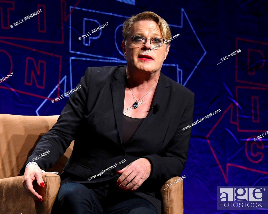 Stock Photo: Eddie Izzard on stage at Politicon 2018 at the LA Convention Center on October 21, 2018 in Los Angeles, California.