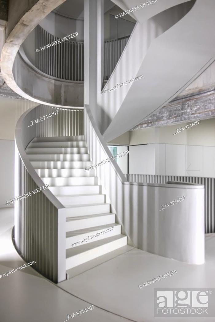 Stock Photo: Modern stairs in building Anton, a former Philips factory at Strijp-S, Eindhoven, The Netherlands, Europe.