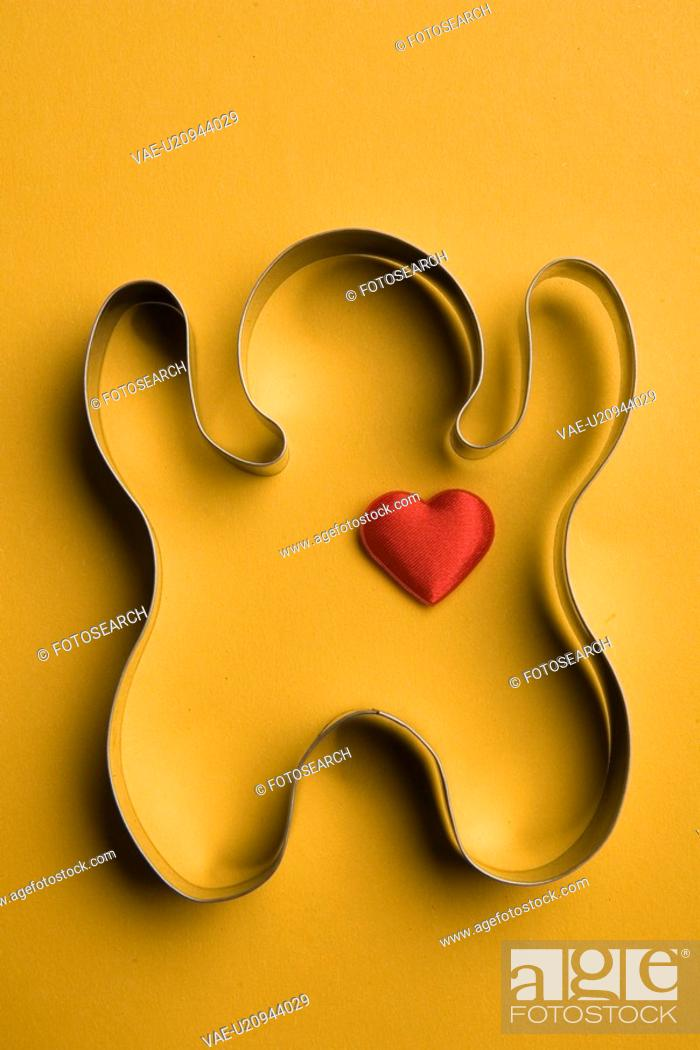 Stock Photo: Close-Up, Metal, Indoors, Heart Shape, Aluminum.