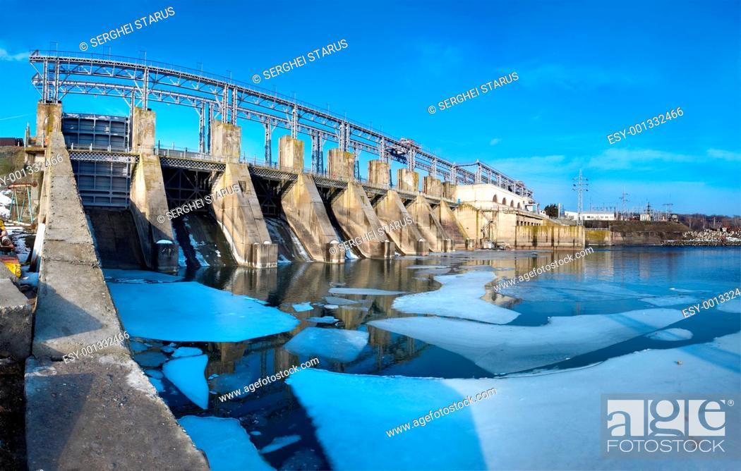 Stock Photo: Hydroelectric pumped storage power plant.