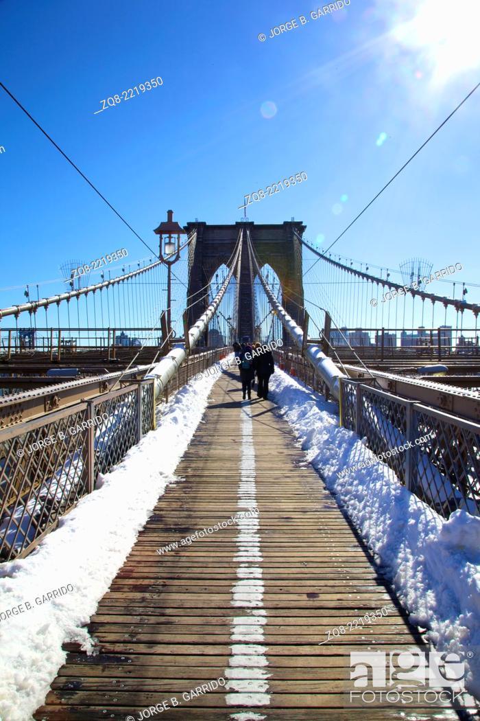 Stock Photo: Brooklyn Bridge in New York City.