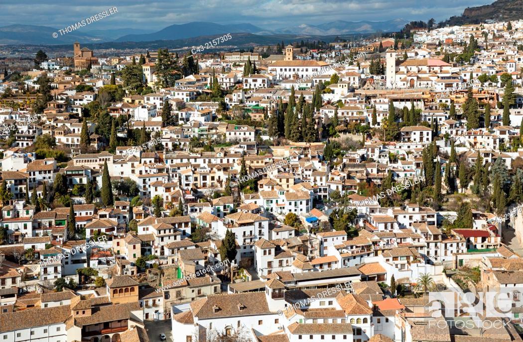 The Albaicín, Granada's characteristic Moorish quarter  Granada