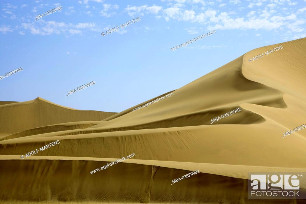 Photo de stock: Africa, Namibia, desert, Namib desert, Erongo region, Dorob national park, dune area,.