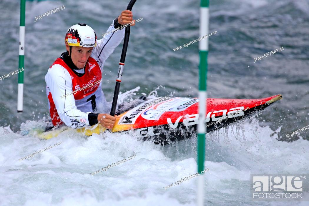 Sebastian Schubert of Germany in action during the semi