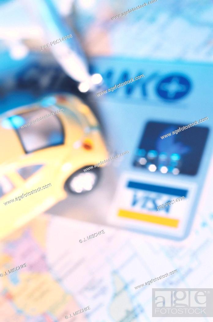 Landkarte Auto Spielzeugauto Flugzeug Spielzeug Visa Visakarte