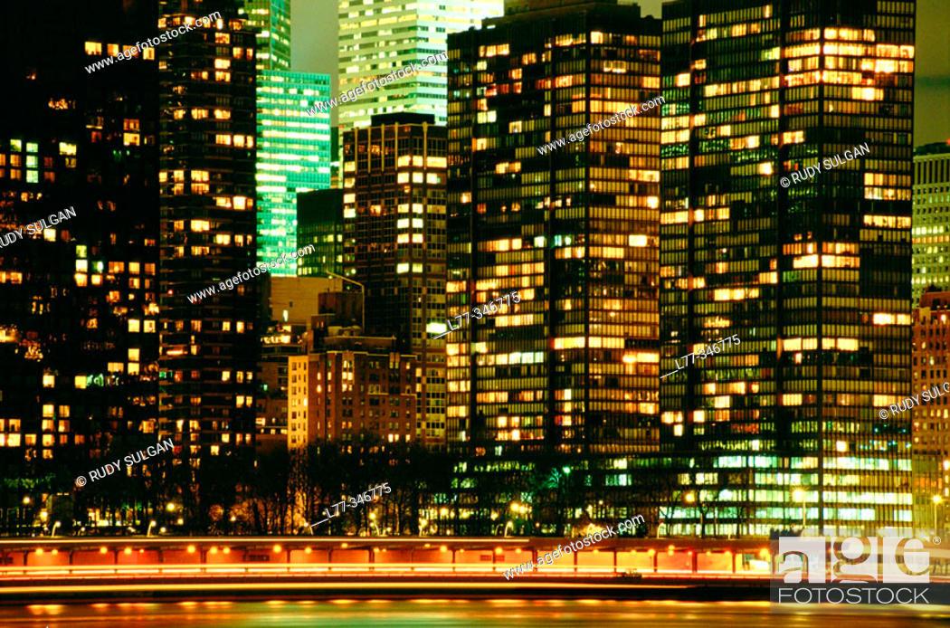 Stock Photo: Corporate architecture. New York City, USA.