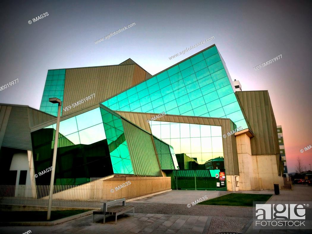 Stock Photo: Pola de Siero Cultural Center. Siero municipality, Asturias, Spain.