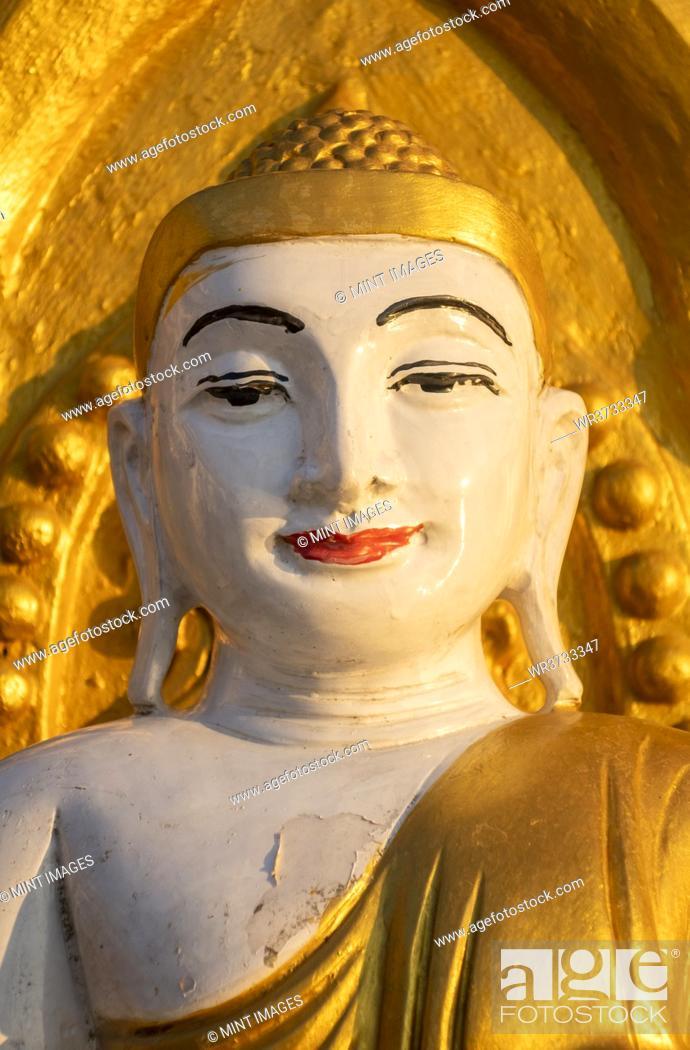 Stock Photo: Kyaik Tan Lan or Kyaikthanlan Pagoda in Mawlamyine, face and shoulders.
