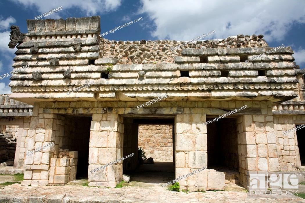 Stock Photo: Archeological site Uxmal, Yucatán, México.
