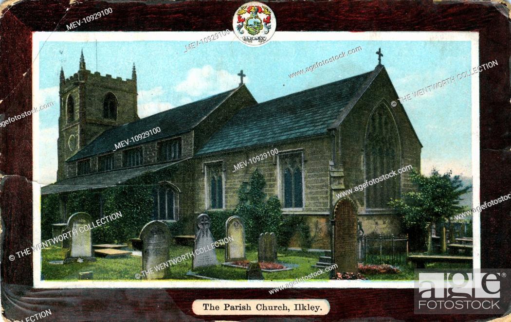 Stock Photo: Parish Church, Ilkley, Yorkshire, England.