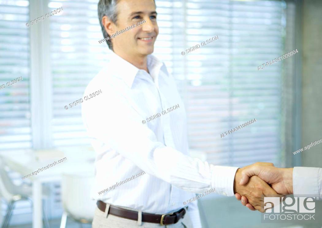 Stock Photo: Businessman shaking hands.