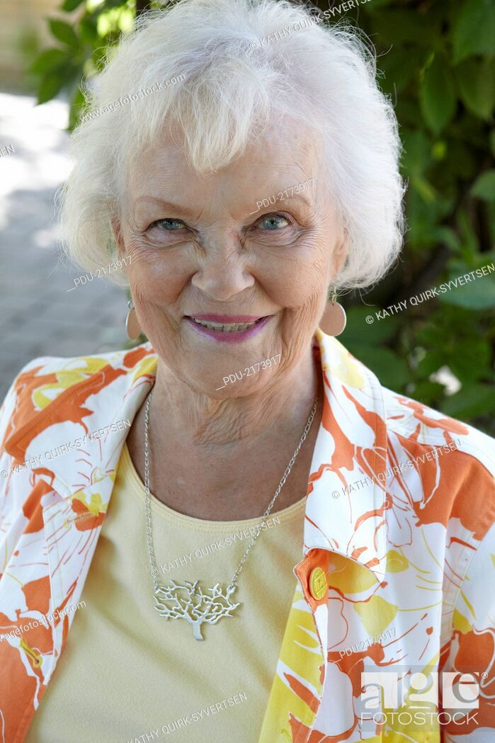 Stock Photo: Active 86 year old woman.