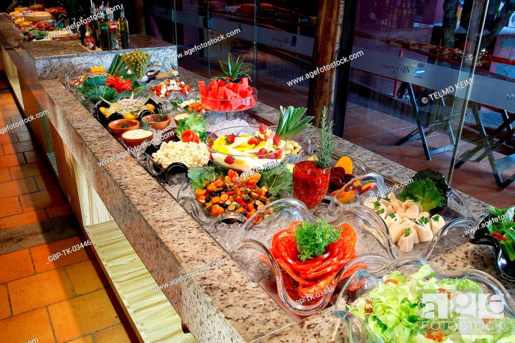 Enjoyable Buffet Self Service Food Restaurant Brazil Stock Photo Download Free Architecture Designs Grimeyleaguecom