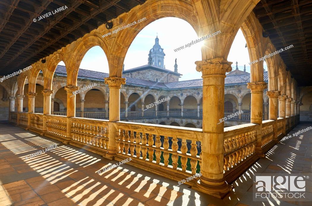 Stock Photo: San Miguel church, Sancti Spiritus University, Oñati, Gipuzkoa, Basque Country, Spain, Europe.